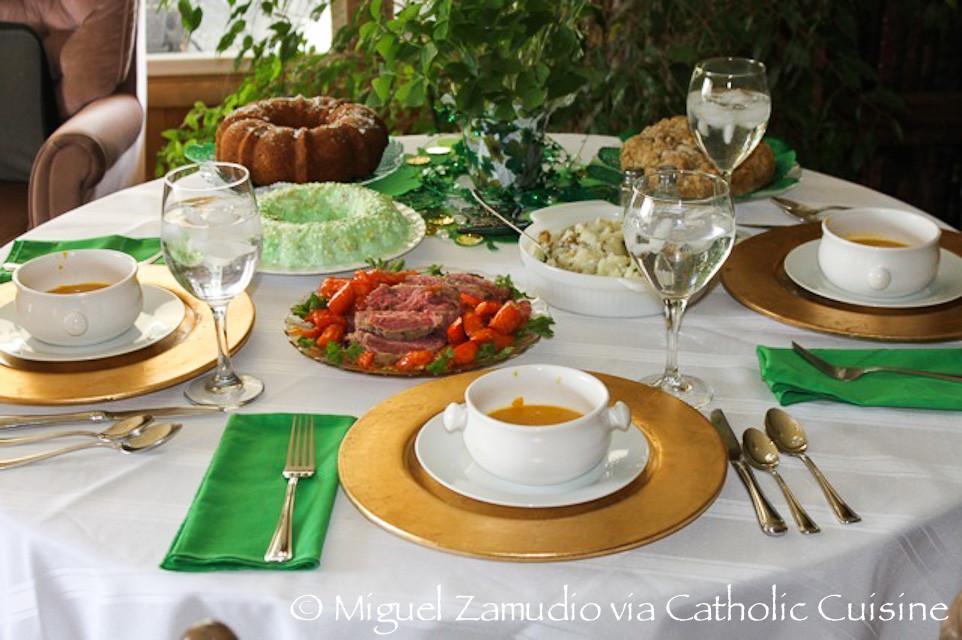 St Patricks Day Dinner  Catholic Cuisine St Patrick's Day Dinner
