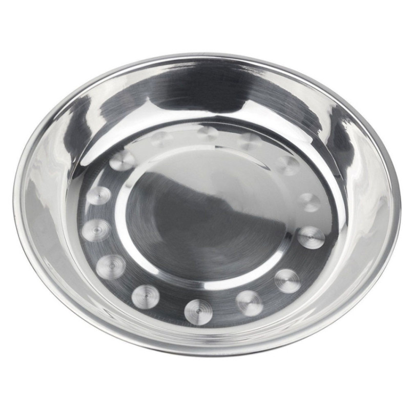 Stainless Steel Dinner Plates  EZLIFE Stainless Steel Dinner Plate Durable Dish Bowls