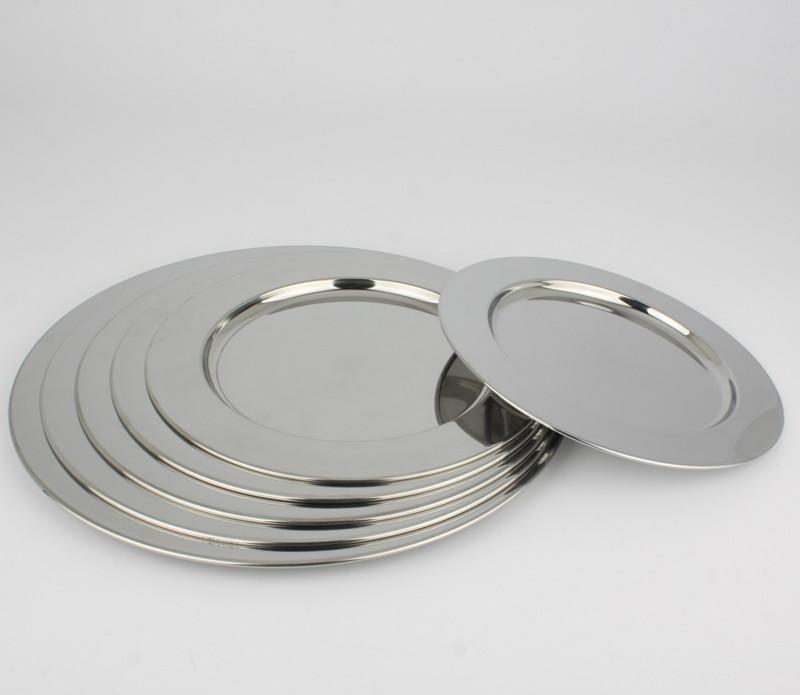 Stainless Steel Dinner Plates  Stainless Steel Dinnerware Dinner Plate Round Broadside