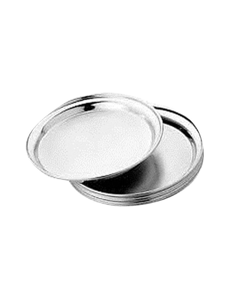 Stainless Steel Dinner Plates  King International Matte Stainless Steel Dinner Plate Set