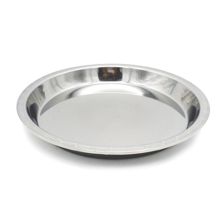 Stainless Steel Dinner Plates  Food Plate Set Stainless Steel Silver Tray Wholesale