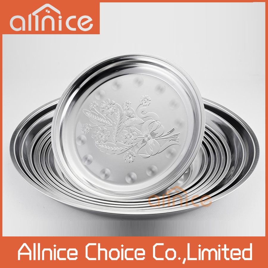 Stainless Steel Dinner Plates  Wholesale Plate Thali Stainless Steel Dinner Plate 65cm