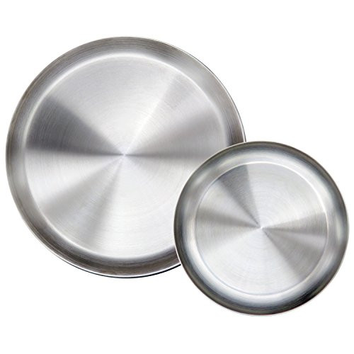 Stainless Steel Dinner Plates  Immokaz Matte Polished 9 0 inch 304 Stainless Steel Round