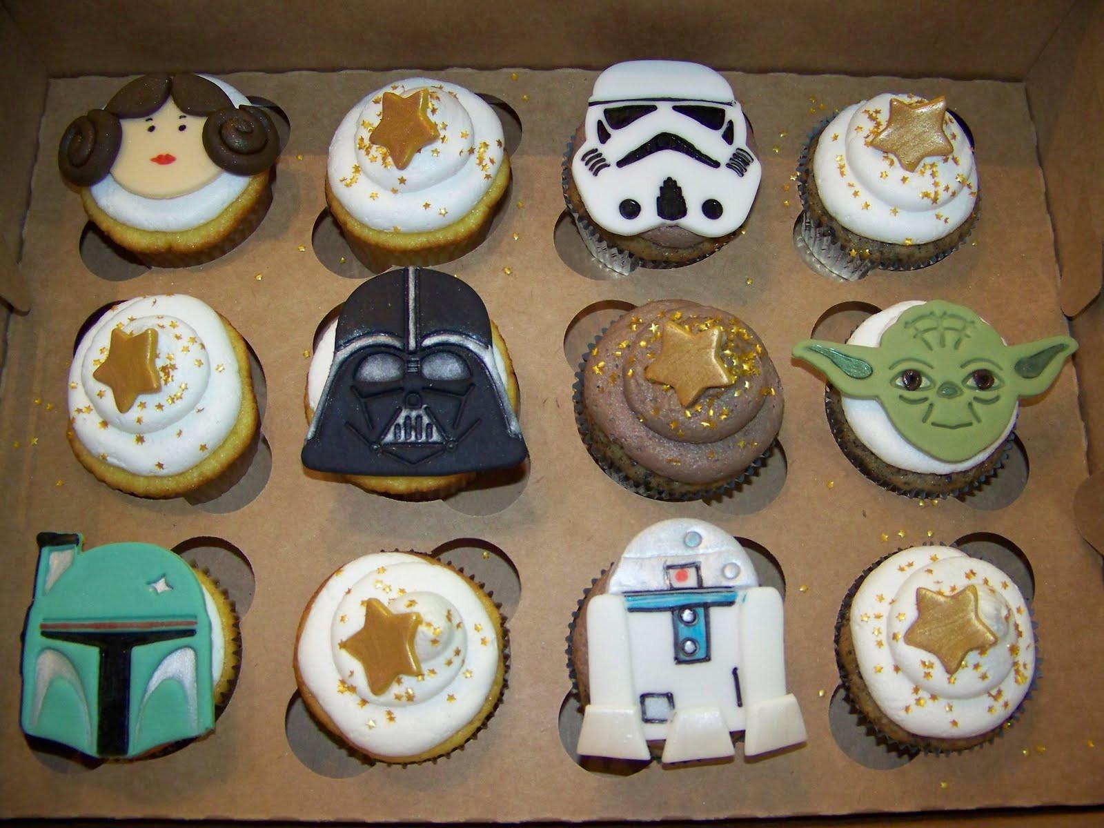 Star Wars Cupcakes  Plumeria Cake Studio Star Wars Cupcakes