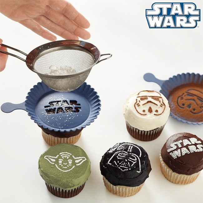 Star Wars Cupcakes  Star Wars Cupcake Stencils For Kitchens In A Galaxy Far