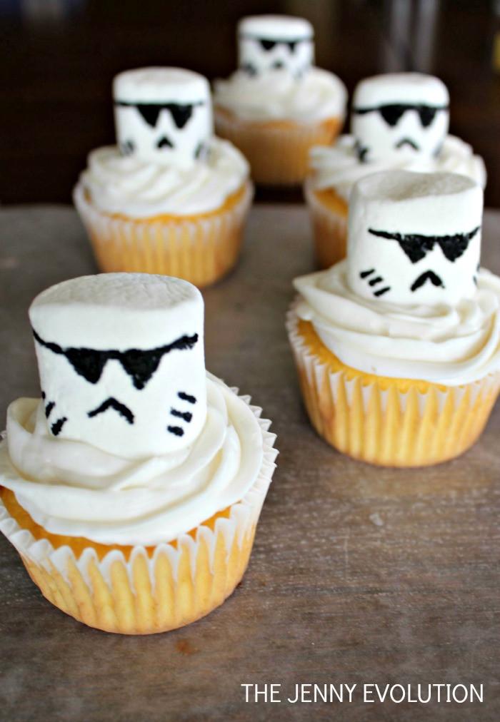 Star Wars Cupcakes  Storm Trooper Star Wars Cupcakes