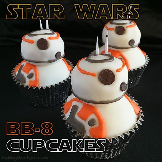 Star Wars Cupcakes  Star Wars BB 8 Cupcakes Baking Mischief