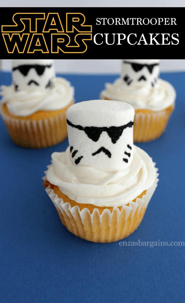 Star Wars Cupcakes  Star Wars Stormtrooper Cupcakes Recipe
