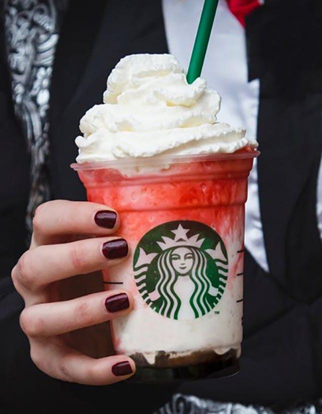 Starbucks Halloween Drinks  We Tried Starbucks' New Halloween Themed Drink Before It's