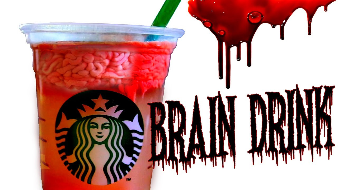 Starbucks Halloween Drinks  DIY zombie brain drink DIY starbucks halloween drink