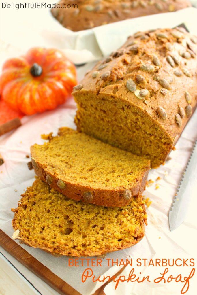 Starbucks Pumpkin Bread Recipe  Better Than Starbucks Pumpkin Loaf Delightful E Made