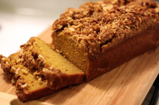Starbucks Pumpkin Bread Recipe  just like Starbucks pumpkin bread with struesel topping