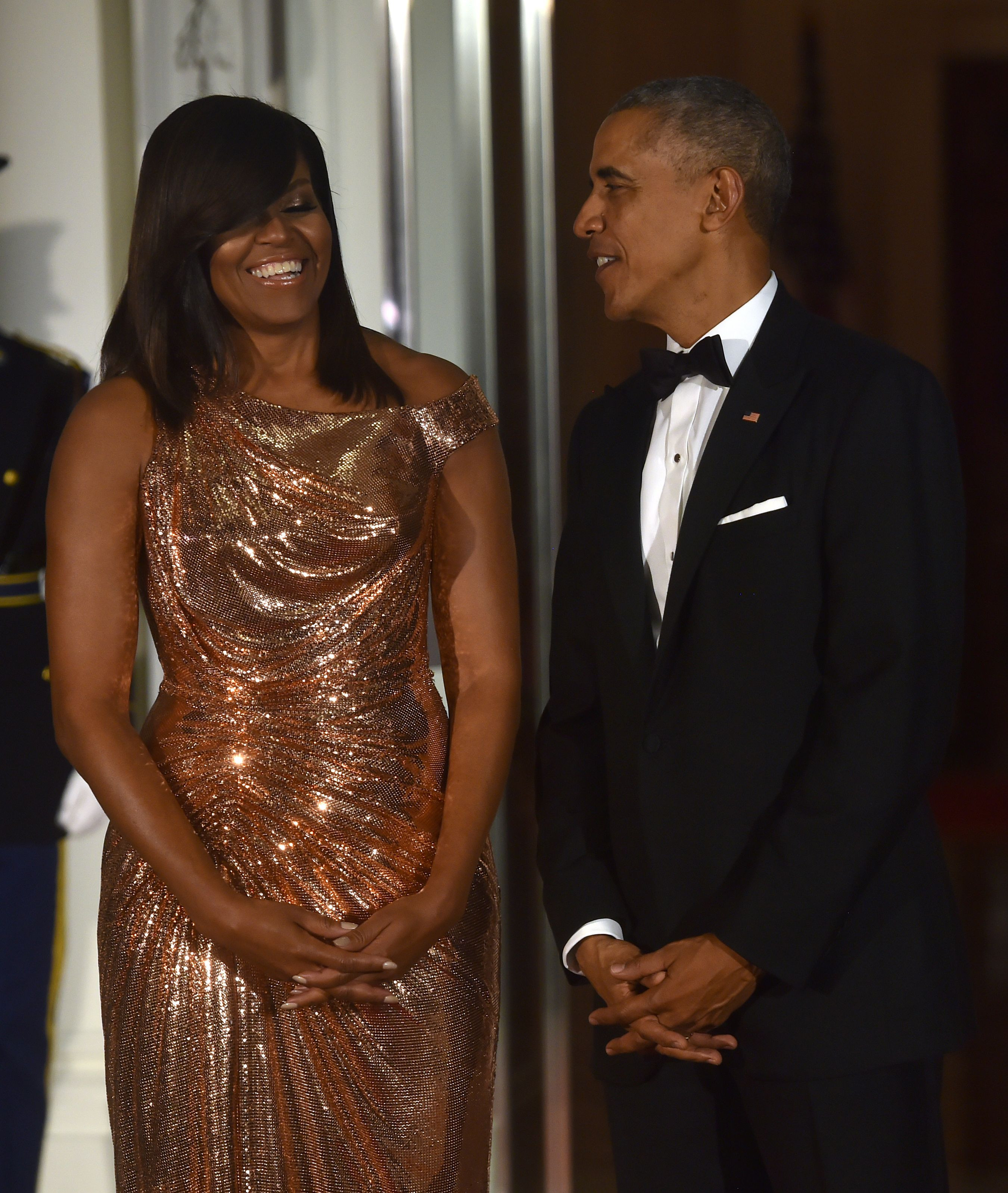 State Dinner 2016  Michelle Obama Slays In Chainmail for Her Last State Dinner