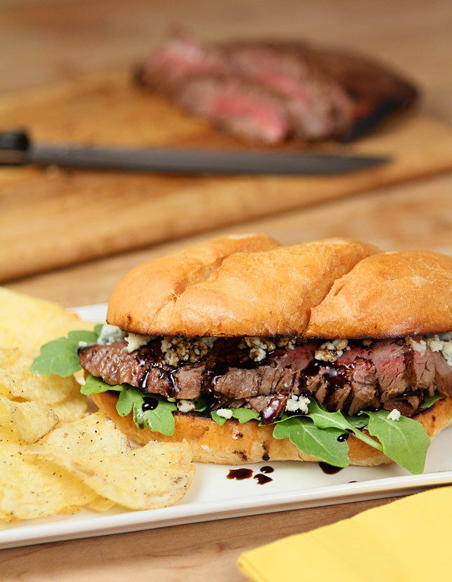 Steak And Cheese Sandwiches  Balsamic and Blue Cheese Steak Sandwich from the National