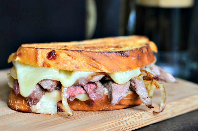 Steak And Cheese Sandwiches  Steak & ion Grilled Cheese Will Cook For Smiles