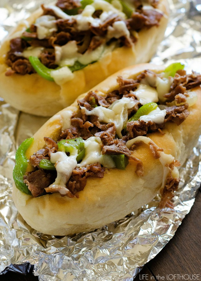 Steak And Cheese Sandwiches  Cheesesteak Sandwiches Life In The Lofthouse