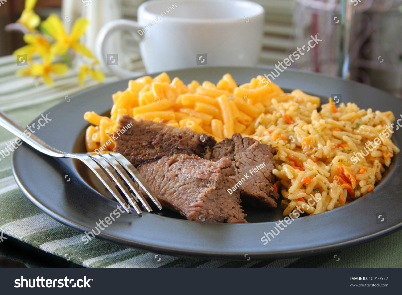 Steak Dinner Sides  Steak Dinner With Sides Stock Shutterstock