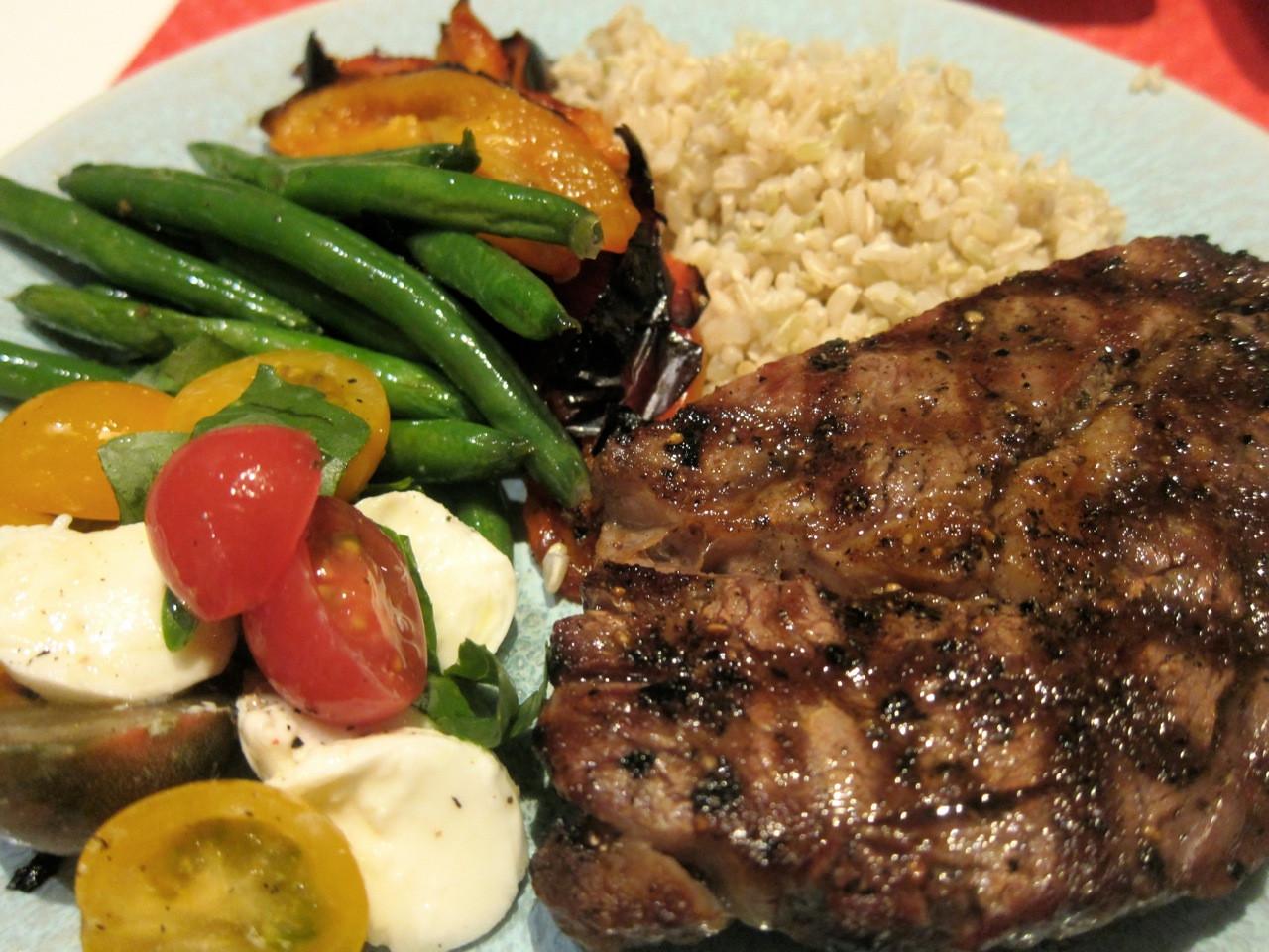 Steak Dinner Sides  Living Deliciously in SoCal Cook FJ Steak Dinner 1
