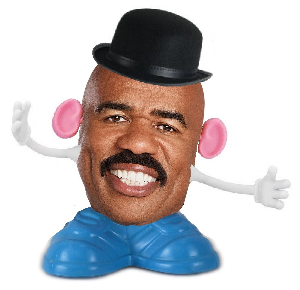 Steve Harvey Mr Potato Head  Describe the picture above you