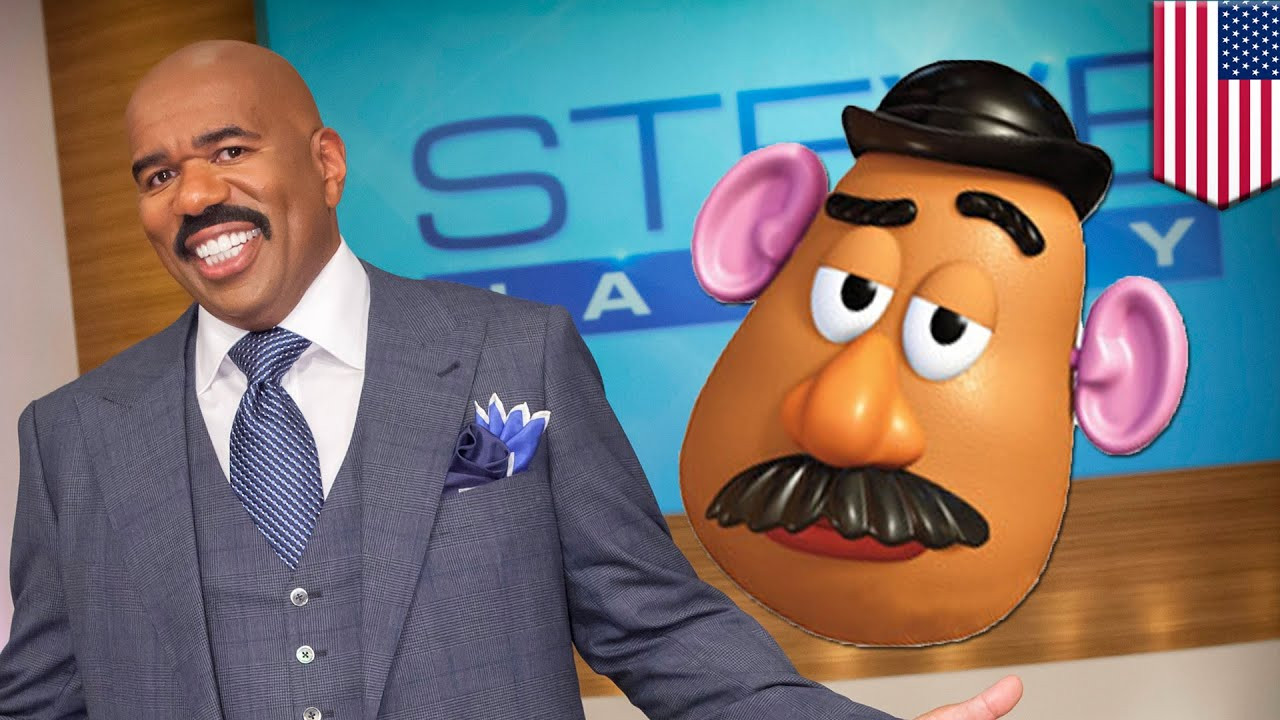 Steve Harvey Mr Potato Head  Steve Harvey Asian men joke Horse teeth Harvey thinks