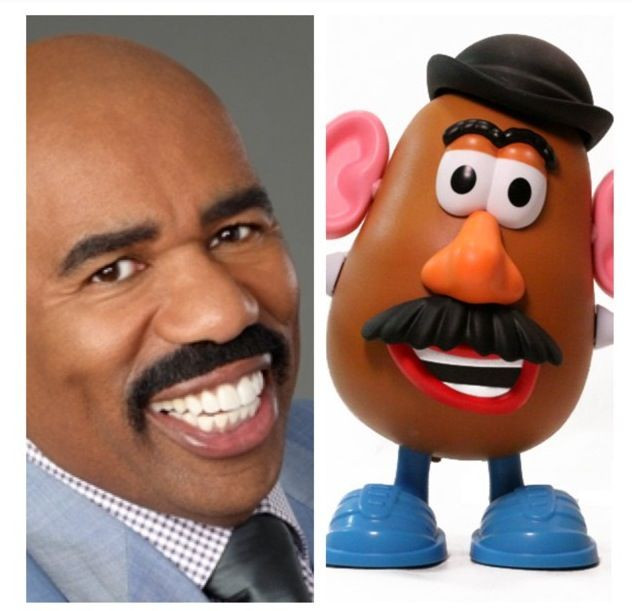 Steve Harvey Mr Potato Head  Steve Harvey = mr potato head