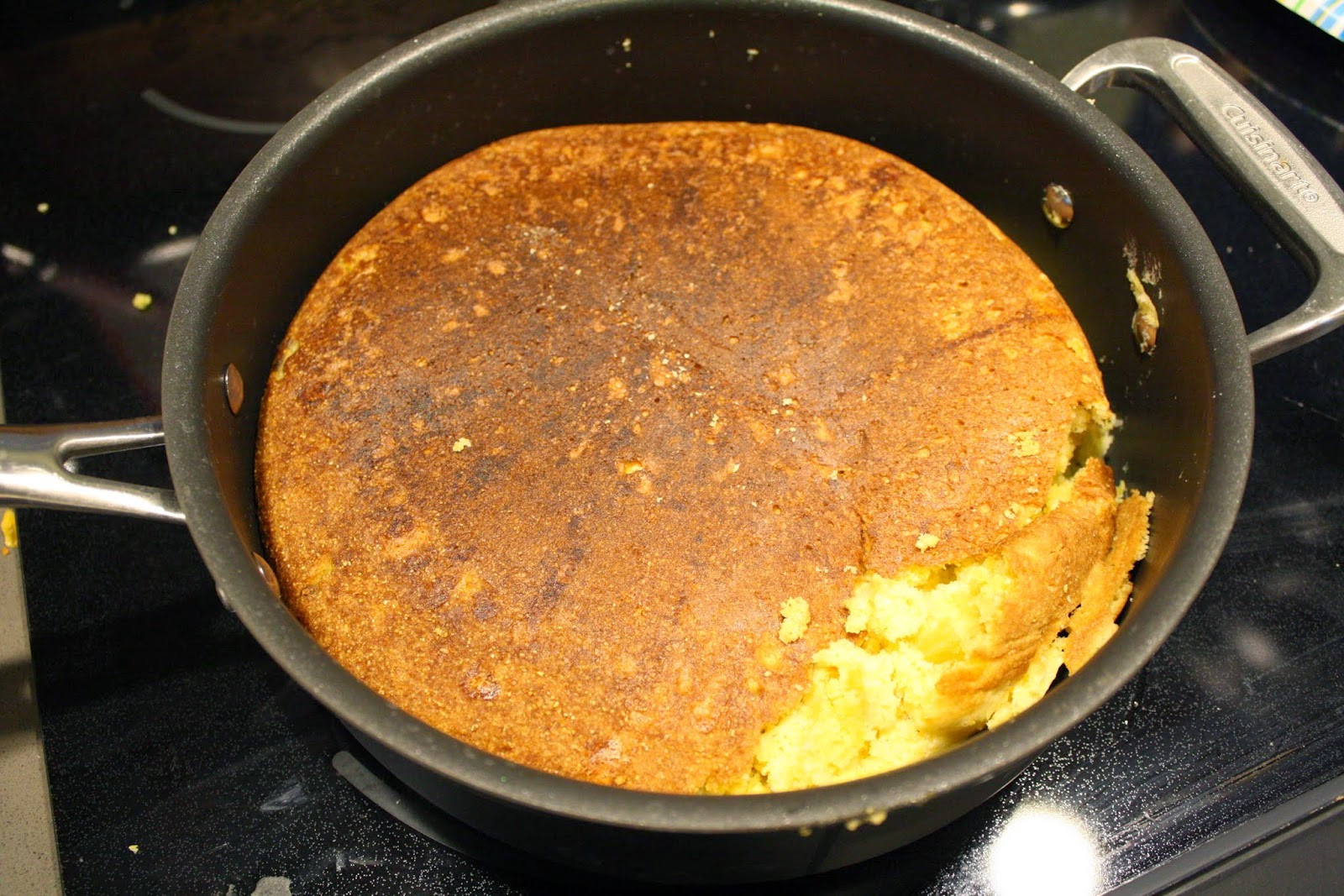 Stove Top Cornbread  Making Mama s Kitchen Cheddar and Green Chile Stovetop