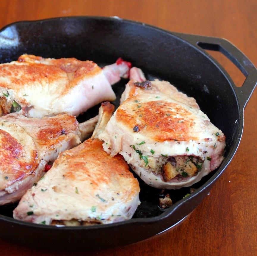 Stove Top Stuffed Pork Chops  Oven Roasted Stuffed Pork Chops Lisa s Dinnertime Dish