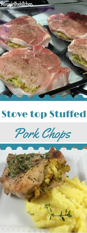 Stove Top Stuffed Pork Chops  Stove Top Stuffed Pork Chops frugalFriday Savvy In