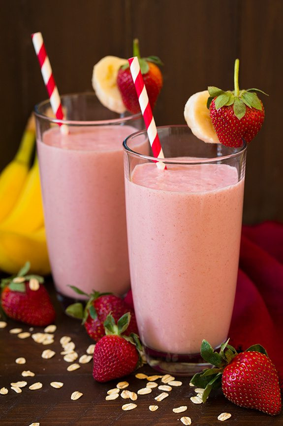 Strawberry Bananas Smoothies  Strawberry Banana Oat Smoothie Cooking Classy
