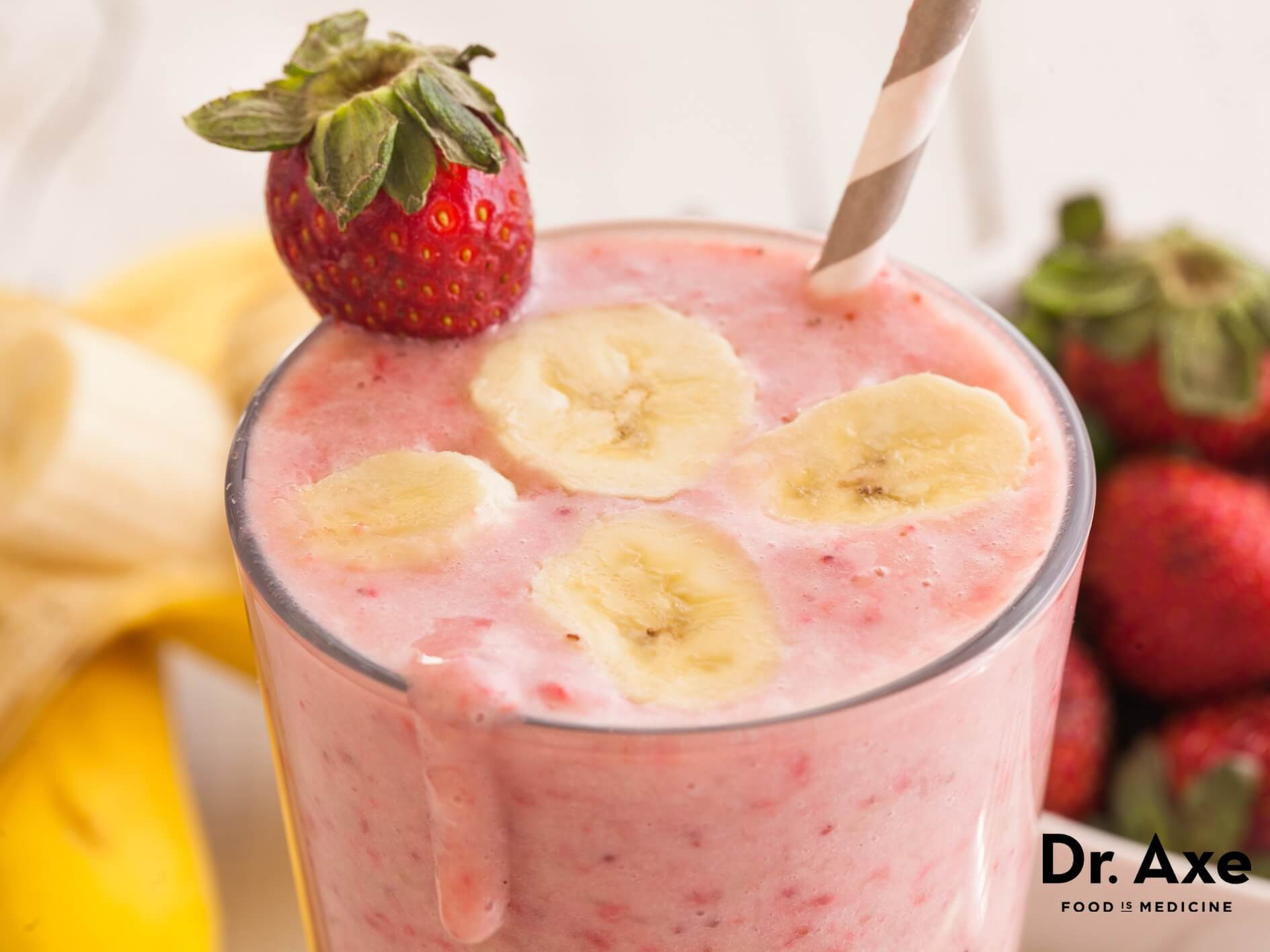 Strawberry Bananas Smoothies  Strawberry Banana Smoothie Recipe DrAxe