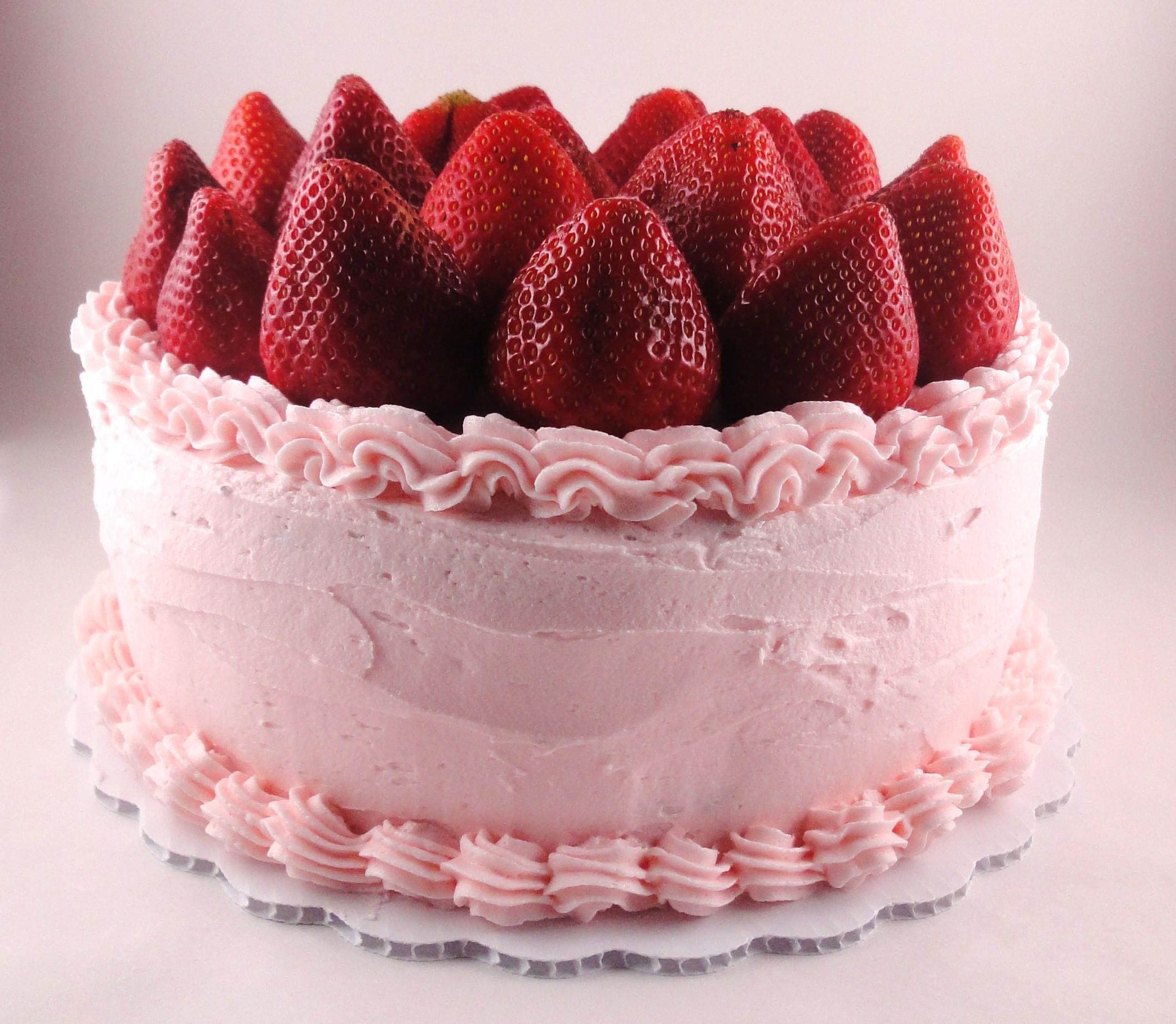 Strawberry Birthday Cake  Cake With Strawberries Wallpaper