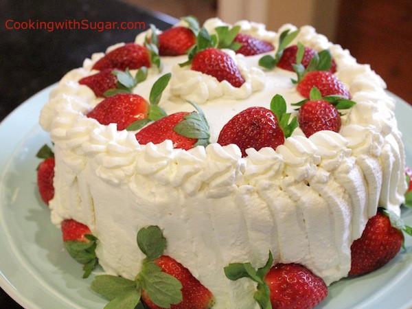 Strawberry Birthday Cake  strawberry whipped cream birthday cake strawberries