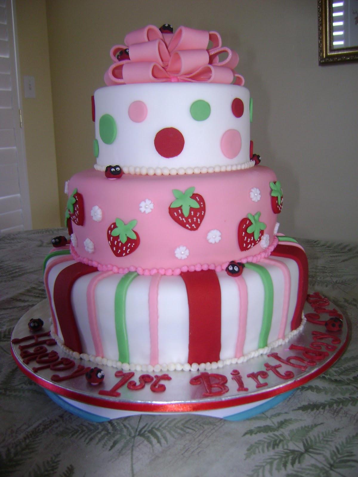 Strawberry Birthday Cake  MaryMel Cakes Strawberry Shortcake 1st Birthday