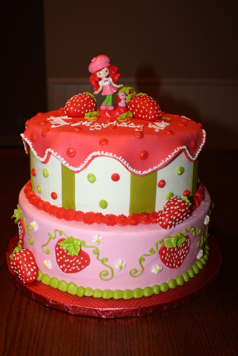 Strawberry Birthday Cake  Strawberry Shortcake Birthday Cake CakeCentral