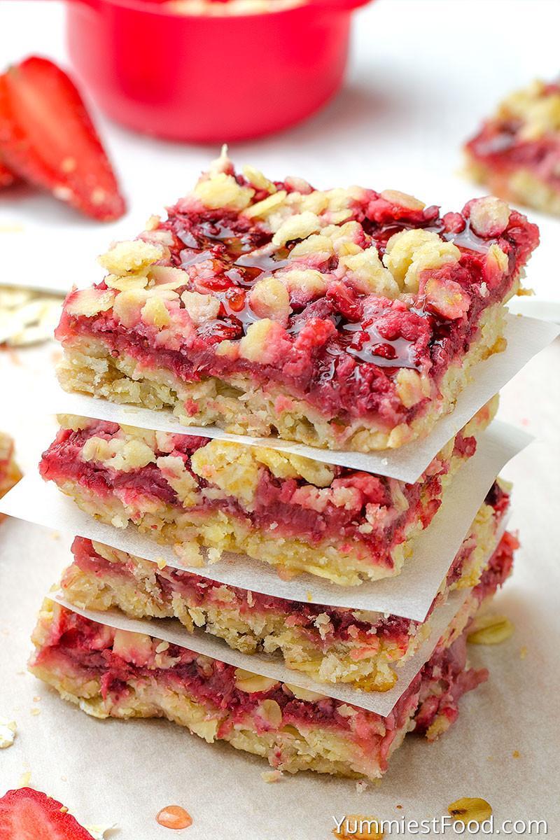 Strawberry Breakfast Recipes  Healthy Breakfast Strawberry Oatmeal Bars Recipe from