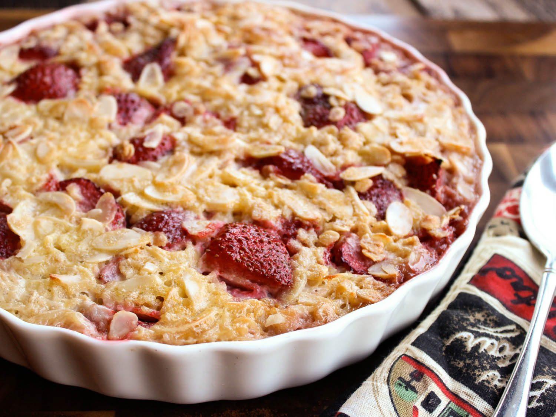 Strawberry Breakfast Recipes  Strawberry Almond Baked Oatmeal Recipe