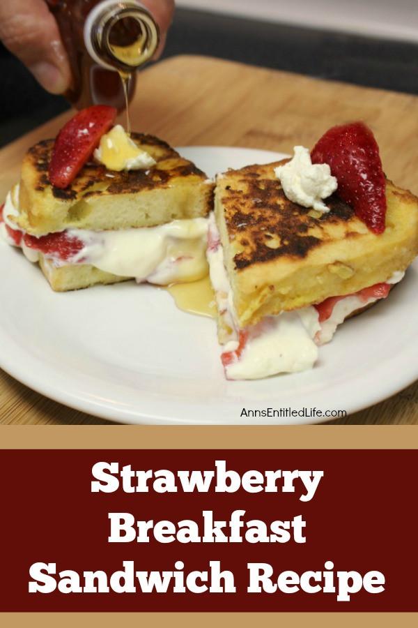 Strawberry Breakfast Recipes  Strawberry Breakfast Sandwich Recipe