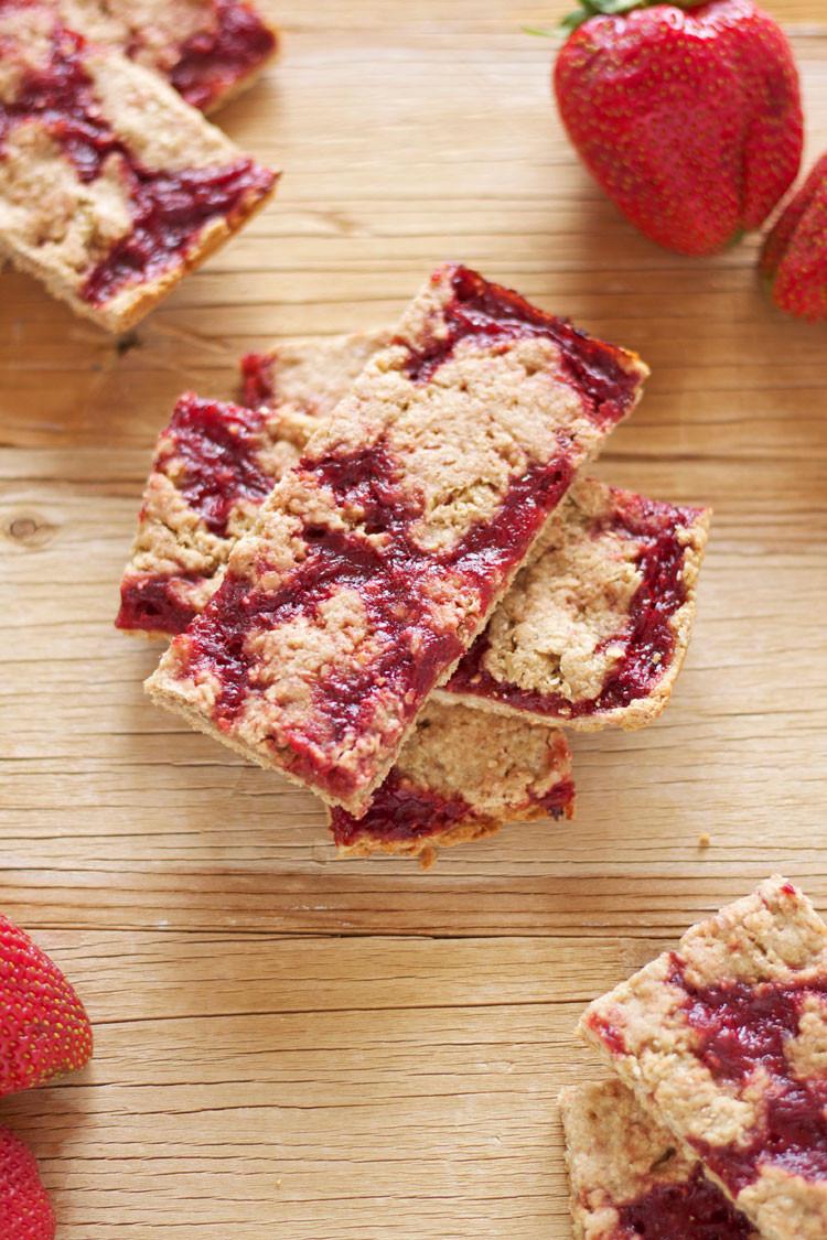 Strawberry Breakfast Recipes  Strawberry Breakfast Bars Recipe Runner