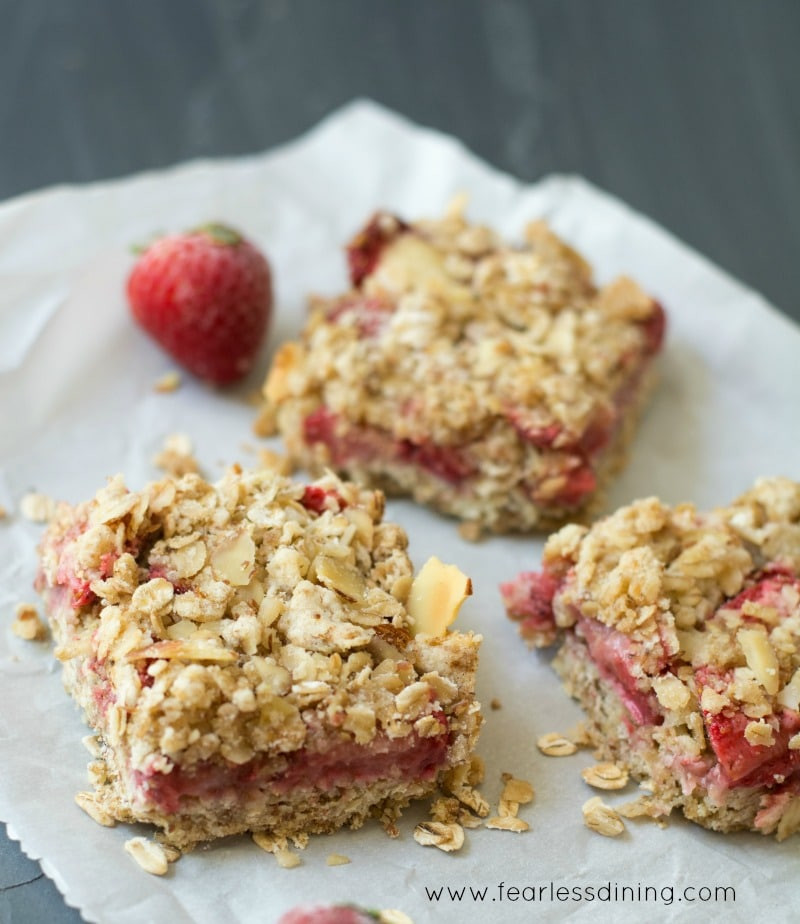 Strawberry Breakfast Recipes  Simple Gluten Free Strawberry Oatmeal Breakfast Bars