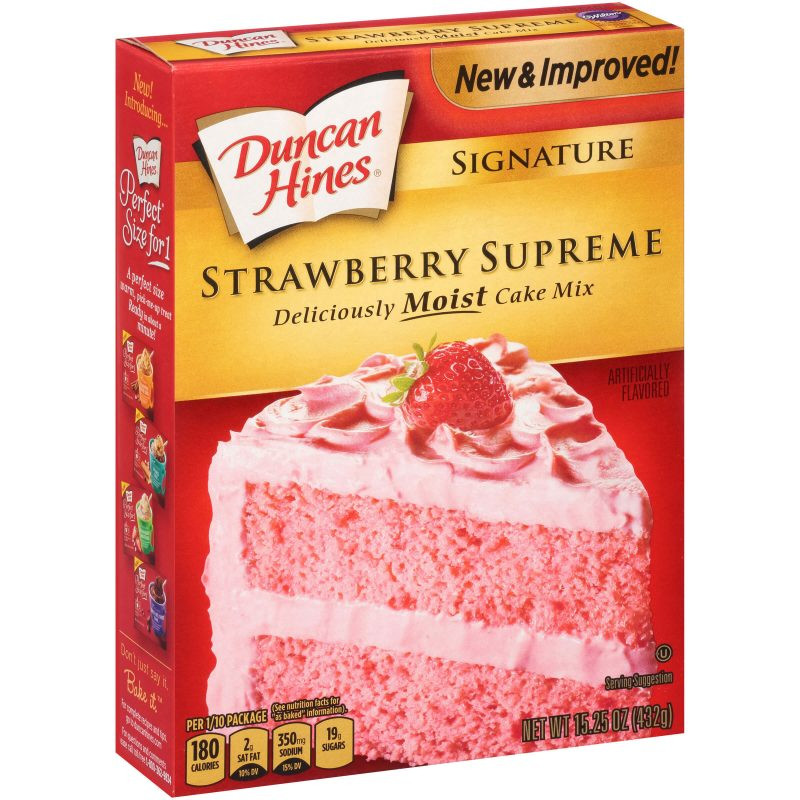 Strawberry Cake Mix  Signature Strawberry Supreme Cake Mix