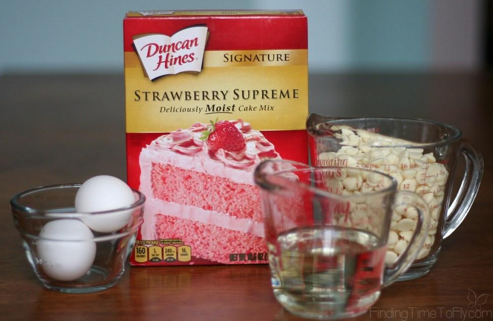 Strawberry Cake Mix  strawberry cake mix cookies betty crocker