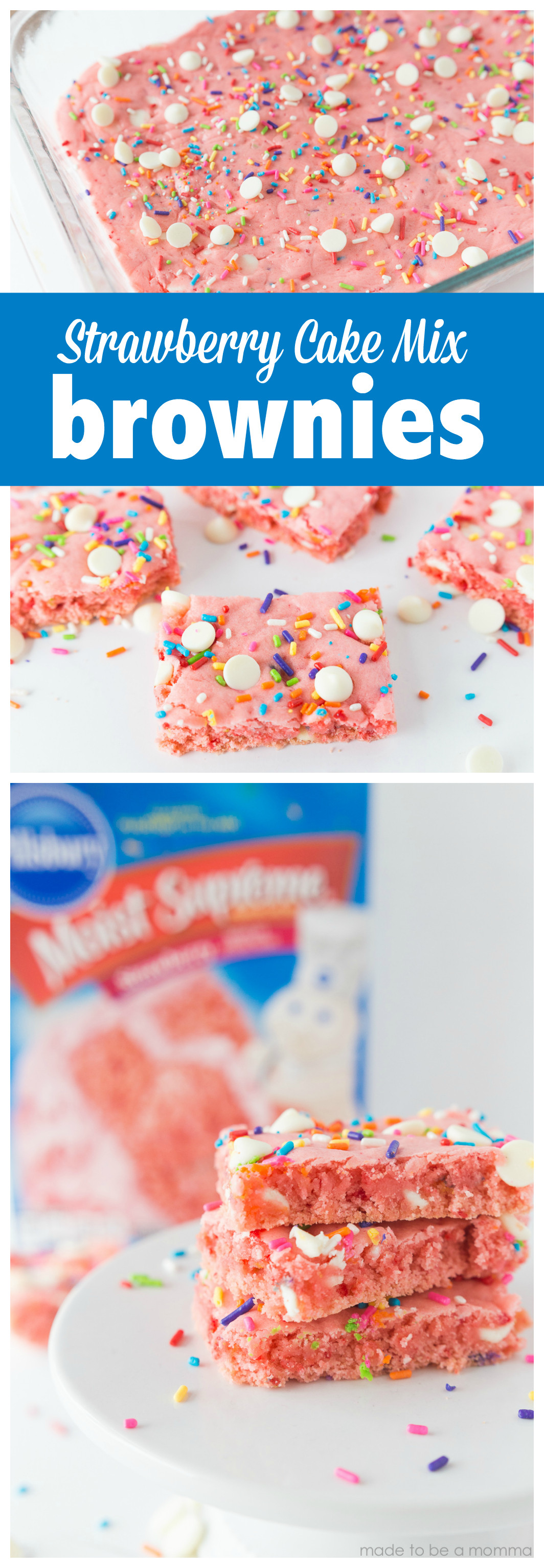 Strawberry Cake Mix  Strawberry Cake Mix Brownies Made To Be A Momma