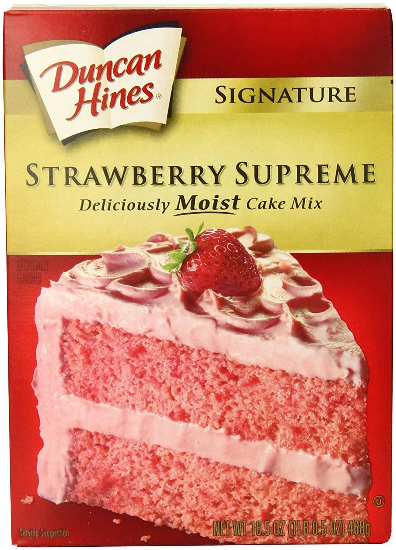 Strawberry Cake Mix  duncan hines strawberry cake mix recipes