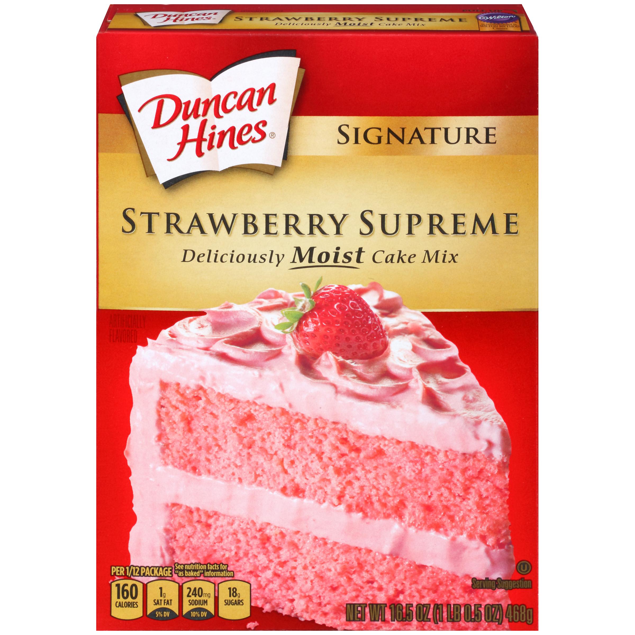 Strawberry Cake Mix  Duncan Hines Signature Strawberry Supreme Cake Mix Food