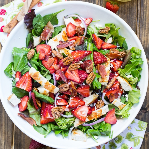 Strawberry Chicken Salad  Strawberry Fields Salad Spicy Southern Kitchen