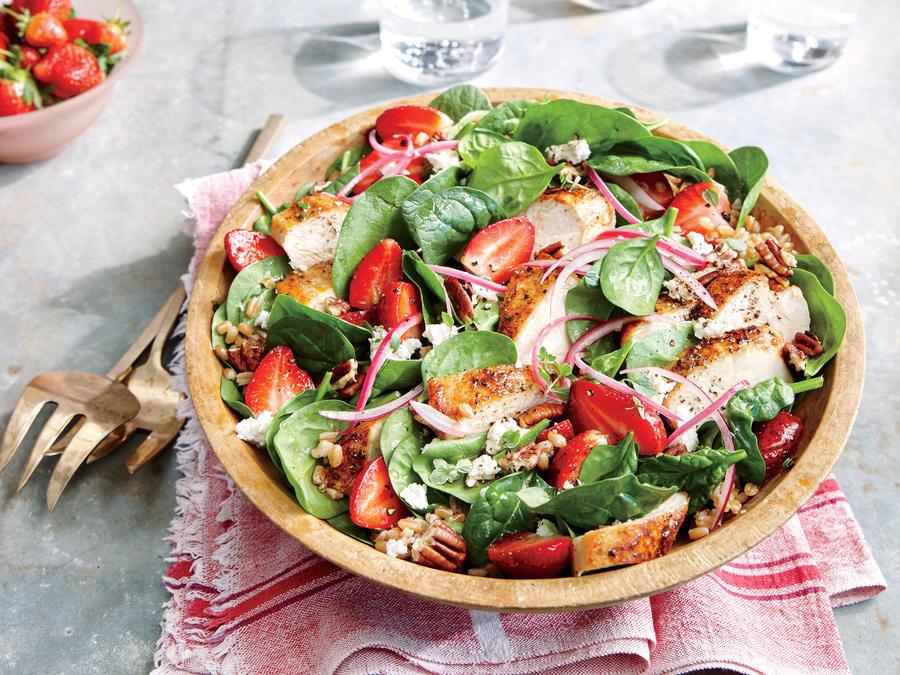 Strawberry Chicken Salad  Strawberry Chicken Salad with Pecans Recipe