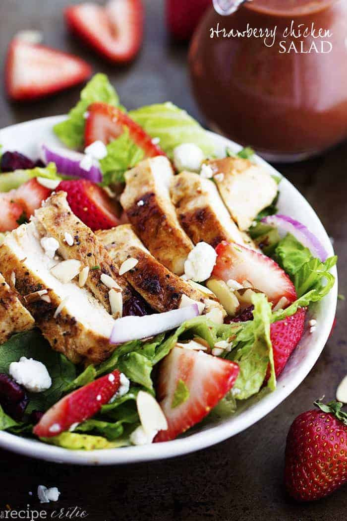 Strawberry Chicken Salad  Strawberry Chicken Salad with Strawberry Balsamic Dressing