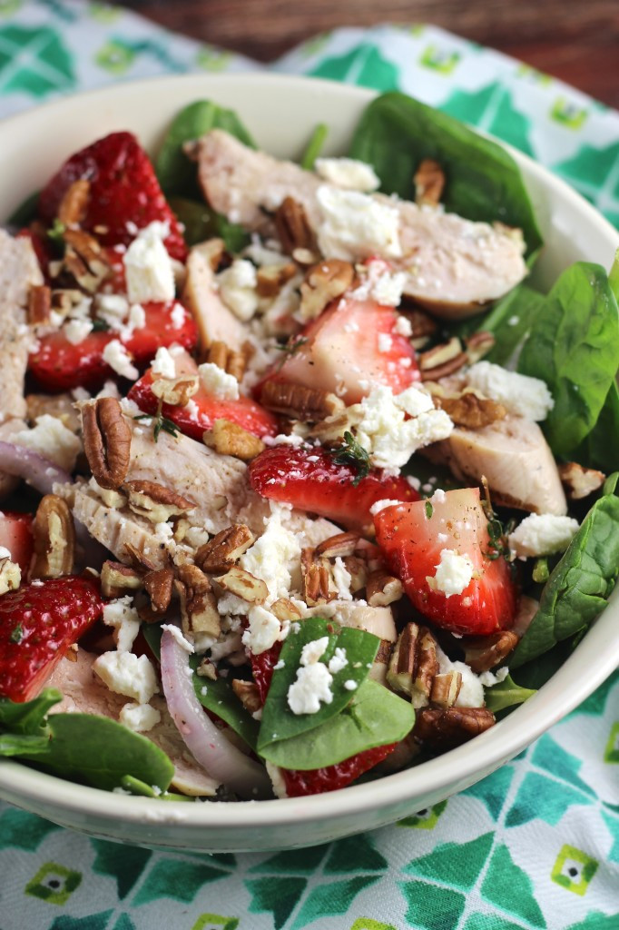 Strawberry Chicken Salad  Strawberry Chicken Salad with Pecans