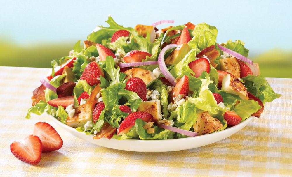 Strawberry Chicken Salad  News Wendy s New Strawberry Fields Chicken Salad