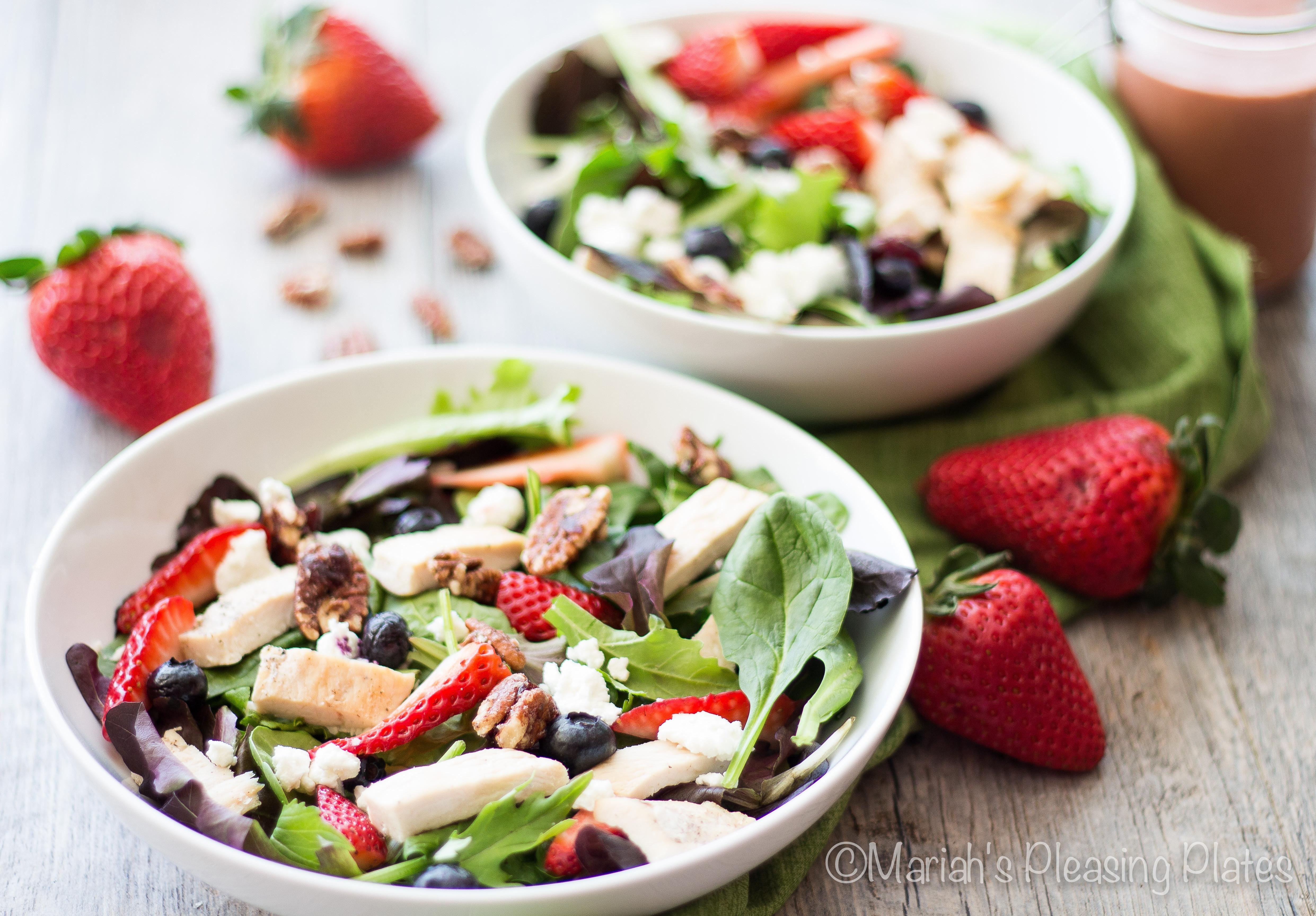 Strawberry Chicken Salad  Sweet Strawberry Chicken Salad